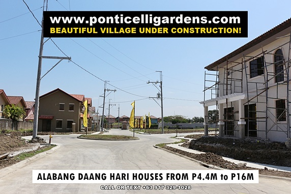 Ponticelli Gardens - House and Lot for Sale in Daang Hari, Vista Alabang Philippines